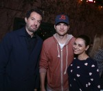 Guy Oseary, Ashton Kutcher and Mila Kunis