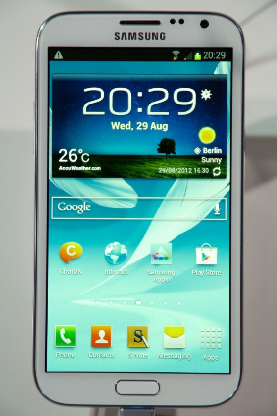 Samsung Galaxy Note II tablet device