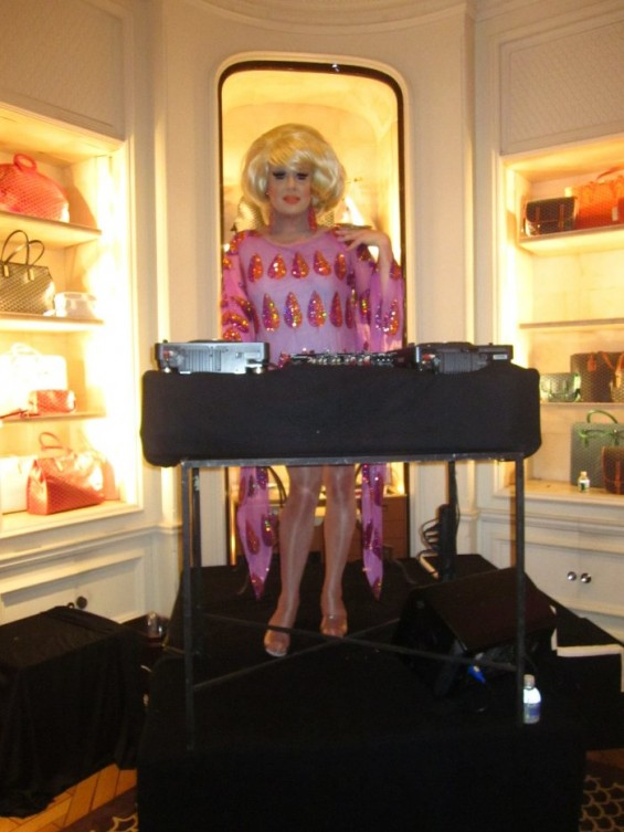 DJ Bunny performed at Bergdorf Goodman on FNO