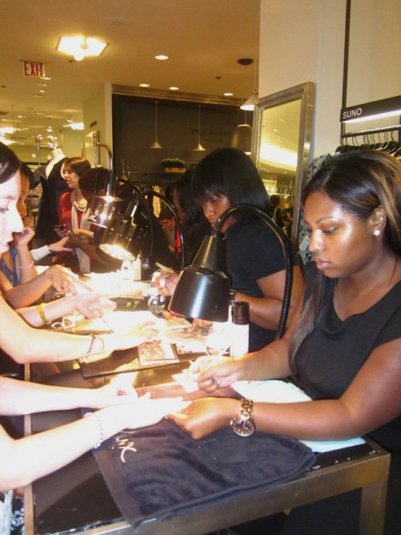 Saks Fifth Avenue gave visitors free manicures