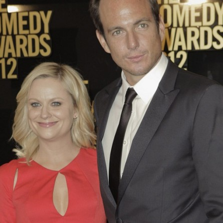 Actors Amy Poehler (L) and Will Arnett arrive for the Comedy Awards 2012 in New York City, New York April 28, 2012.