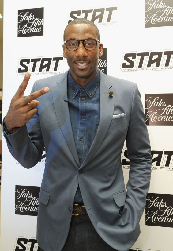 NEW YORK, NY - SEPTEMBER 06: NBA player Amare Stoudemire attends Fashion&#039;s Night Out at Saks Fifth Avenue on September 6, 2012 in New York City. 