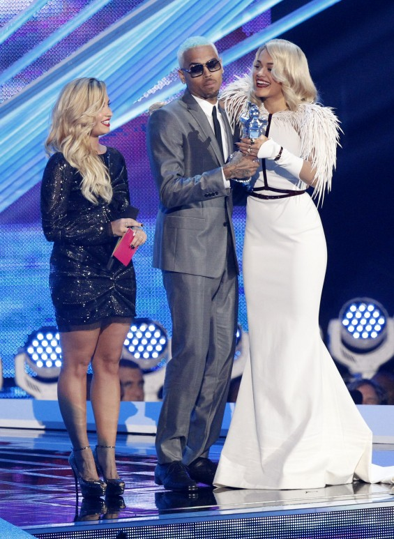 Demi Lovato, Chris Brown and Rita Ora