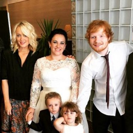 Ed Sheeran after crashing an Australian couple's wedding