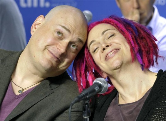 "Directors Andy (L) and Lana Wachowski attend a news conference for their film ""Cloud Atlas"" at the 37th Toronto International Film Festival September 9, 2012."