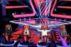 "THE VOICE -- ""Blind Auditions"" -- Pictured: (l-r) Blake Shelton, Christina Aguilera, CeeLo Green, Adam Levine."