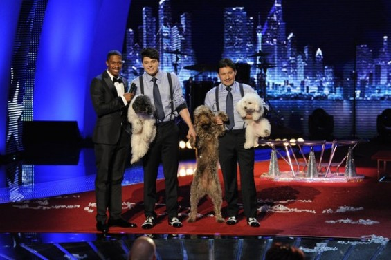 AMERICA'S GOT TALENT -- Episode 730 -- Pictured: (l-r) Nick Cannon, Olate Dogs.