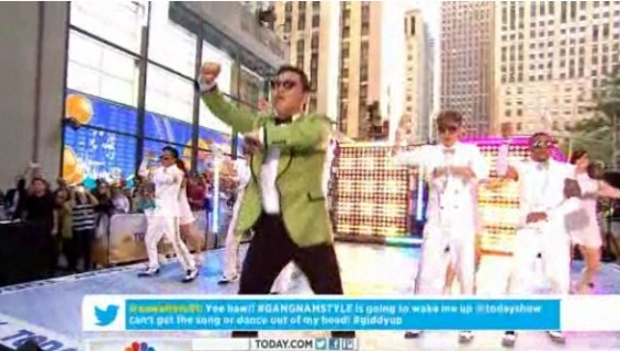 "Psy on the ""Today"" show September 14, 2012."