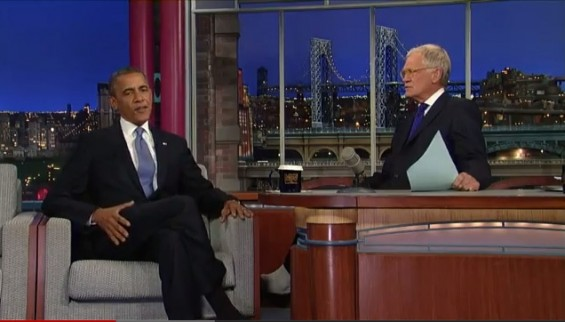 Obama on 'David Letterman' Tuesday September 18, 2012.