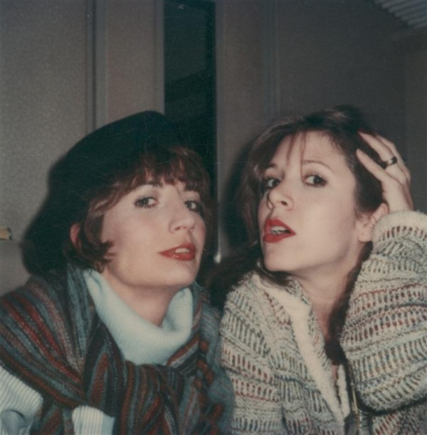 Legendary comedienne and director Penny Marshall (L) is shown in a family photograph with friend, actress and writer Carrie Fisher in this undated handout photograph provided to Reuters September 20,