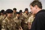 David Cameron speaks to British forces