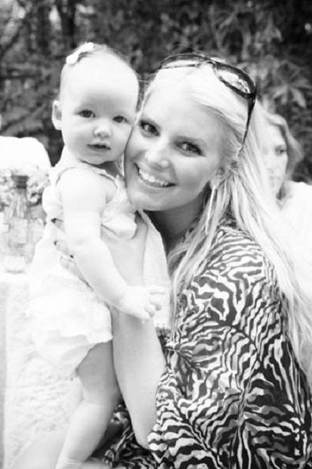 Jessica Simpson and daughter Maxwell Drew Johnson