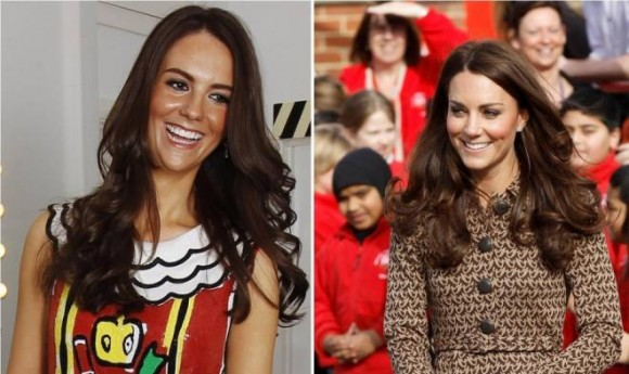Kate Middleton and Her Lookalike