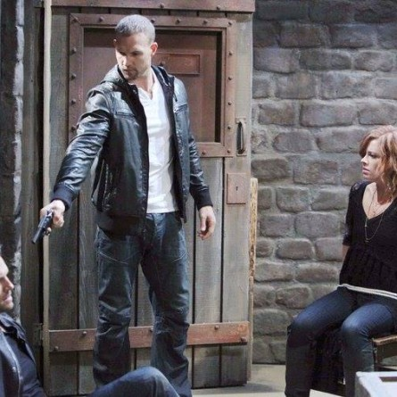At Kristen's lair, Brady and Melanie find themselves in a dangerous situation on the April 27, 2015 episode of 'Days of Our Lives'