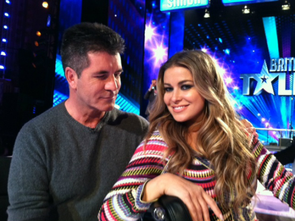 Carmen Electra and Simon Cowell
