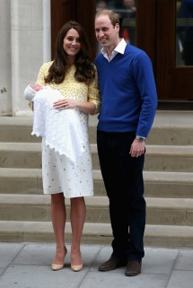 The Duke and Duchess of Cambridge with their daughter, Princess Charlotte Elizabeth Diana