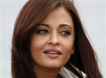 Bollywood actress Aishwarya Rai Bachchan poses during a beach front photocall at the 64th Cannes Film Festival, May 13, 2011.