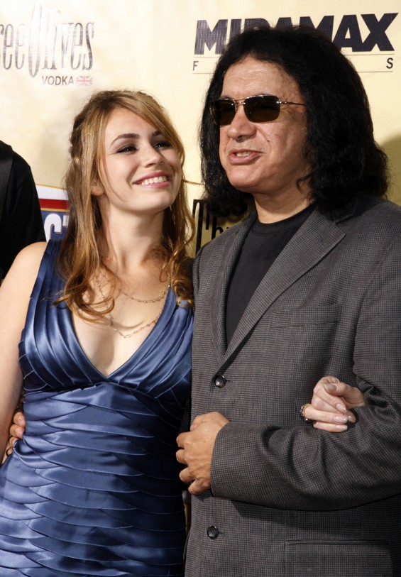 Gene Simmons and daughter Sophie Tweed-Simmons