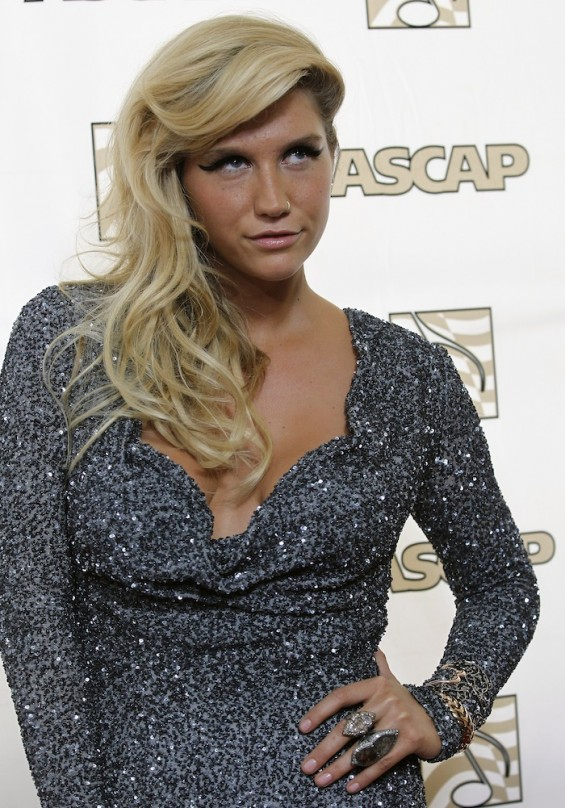 Singer Kesha poses at the 28th annual ASCAP Pop Music Awards in Hollywood