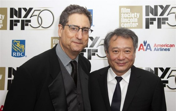 "Former head of 20th Century Fox Tom Rothman (L) and Director Lee Ang attend the opening night gala presentation of film ""Life Of Pi"" at the 50th New York Film Festival at Alice Tully Hall in New York"