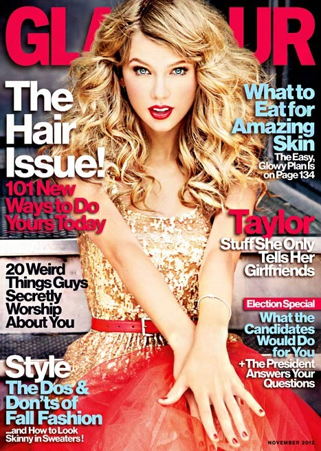 Taylor Swift on the November cover of Glamour magazine