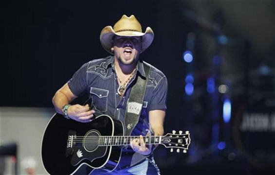 Country music star Jason Aldean performs during the 2012 iHeart Radio Music Festival at the MGM Grand Garden Arena in Las Vegas, Nevada September 21, 2012.