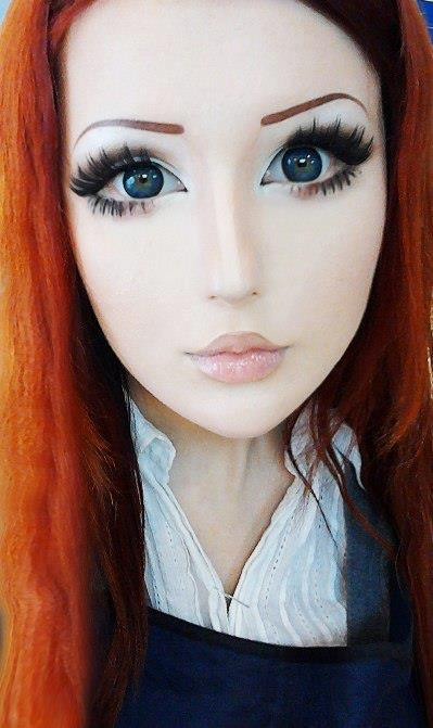 Real life anime girl ukranian woman turns herself into cartoon