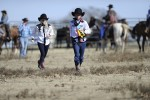Hayley and Blair participate in a cattle drive at the P2 Ranch on the season 26 finale of 'The Amazing Race'