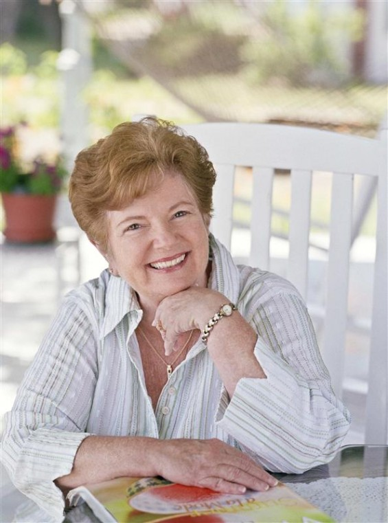 "Sherryl Woods, author of ""Sweet Magnolias Cookbook"", poses in this photo taken in Colonial Beach, Virginia May 2008."
