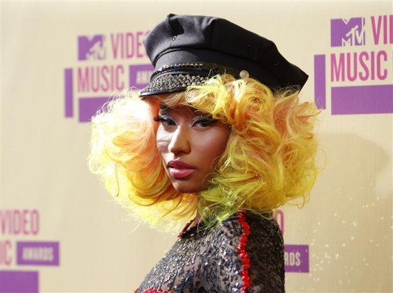 Singer Nicki Minaj arrives for the 2012 MTV Video Music Awards in Los Angeles, September 6, 2012.