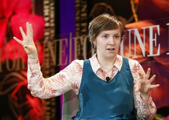 Lena Dunham, filmmaker, actress and director, speaks during a one-on-one session at Fortune's Most Powerful Women Summit in Laguna Niguel, California October 2, 2012.