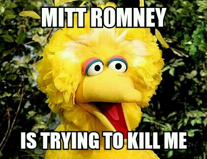 Mitt Romney Big Bird Internet Meme
