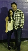 Pattie Mallette and Chris Harrison