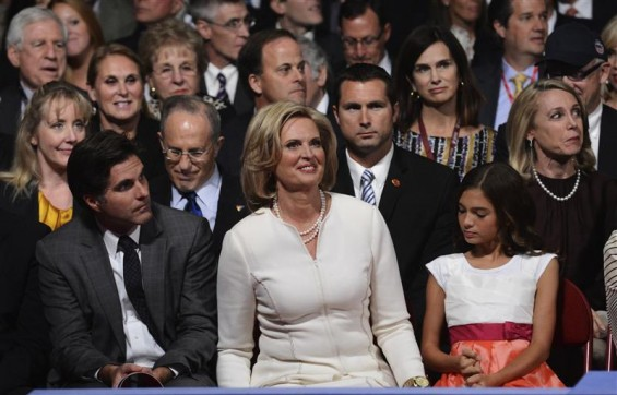 Ann Romney smiles at the start of the first 2012 U.S. presidential debate in Denver October 3, 2012. 