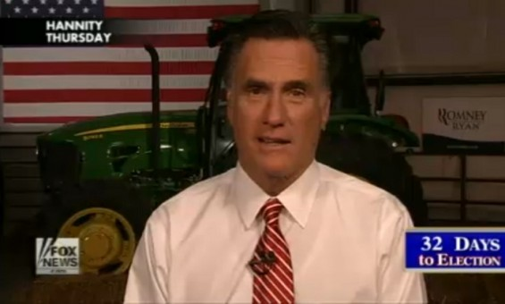 Mitt Romney addresses 47 Percent comments on Fox News in an October 4 interview.