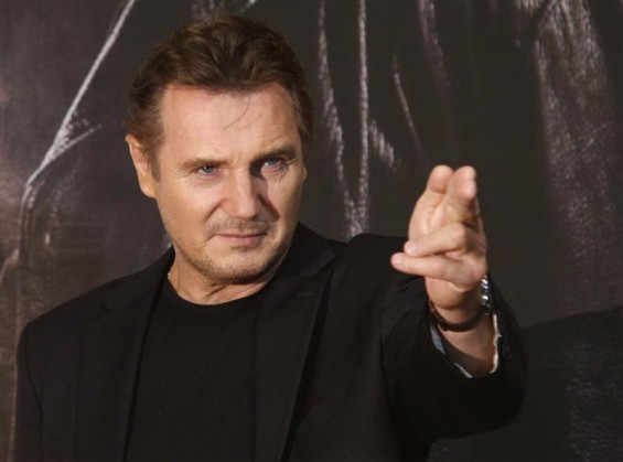 "Actor Liam Neeson poses before a news conference to promote his movie, ""Taken 2"" in Seoul September 17, 2012."