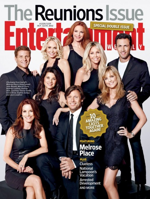 The cast of &#034;Melrose Place&#034; on the cover of Entertainment Weekly