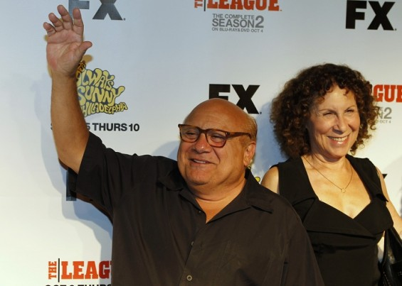 "Actor Danny DeVito and his wife Rhea Perlman arrive at the premiere screening of the FX cable television series ""It's Always Sunny in Philadelphia"" in Hollywood September 13, 2011."