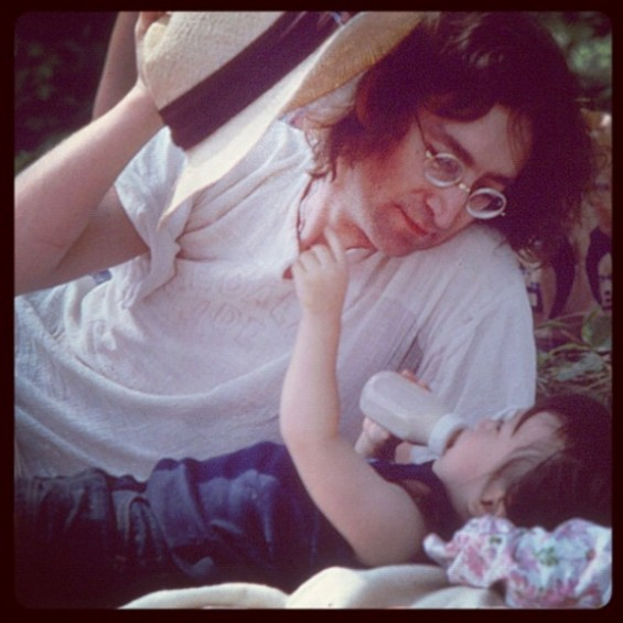  John Lennon and son Sean