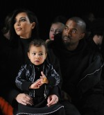 Kim Kardashian, Kanye West, North West pictured
