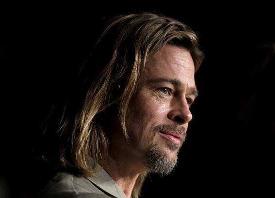 Cast member Brad Pitt attends a news conference for the film &#034;Killing Them Softly&#034;, in competition at the 65th Cannes Film Festival May 22, 2012.
