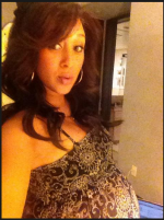 Tamera Mowry-Housley at nine months pregnant