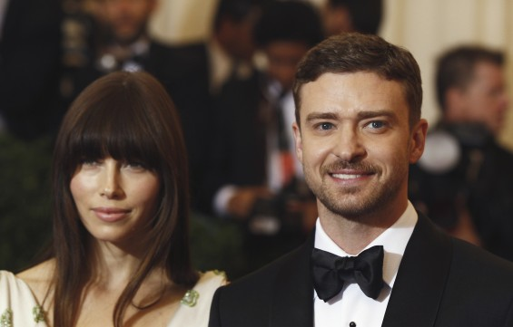 Actors Justin Timberlake and Jessica Biel