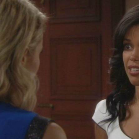 Caroline and Maya have some harsh words for one another on the June 30, 2015 episode of 'The Bold and the Beautiful'