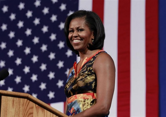 U.S. first lady Michelle Obama