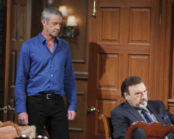Clyde introduces himself to Stefano - and comes armed with a hidden agenda on the July 2, 2015 episode of 'Days of Our Lives'