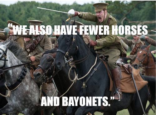 horse and bayonet meme?h=700 horses and bayonets memes, obama vs romney presidential debate,Bayonet Meme