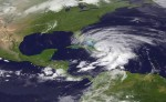 Hurricane Sandy from satellite view