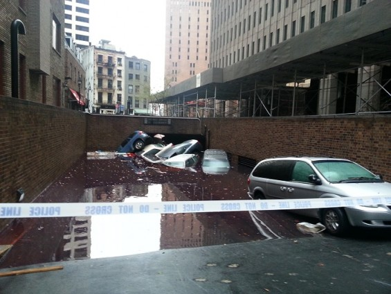 NYC Hurricane Sandy damage near Wall Street