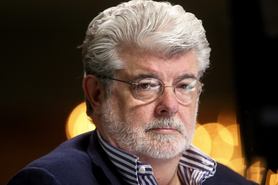 Filmmaker and Chairman of the Board of Lucasfilm Ltd. George Lucas waits to do a television interview at the Milken Institute Global Conference in Beverly Hills, California April 30, 2012.